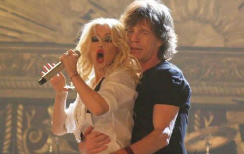 Jagger con Cristian Aguilera en Shine A Light