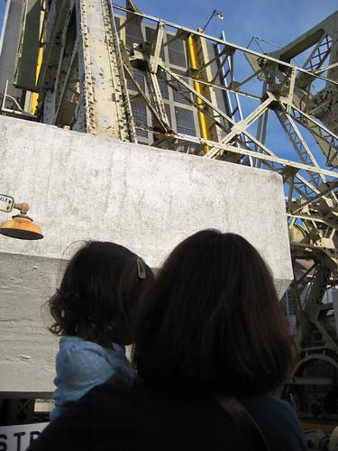 Watching the bridge go up