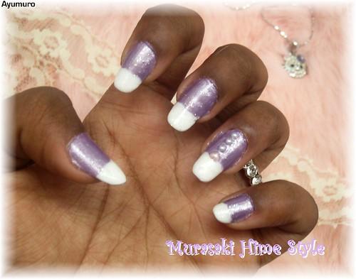 nail Japanese style called Murasaki Hime or Purple Princess. Cute nail polish. nail art designs gallery