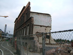 Demolition of Antwerp DS station