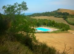 ...l'estate sta finendo...... (rebranca46) Tags: blue italy panorama landscape piscina marche rebranca panoramicapesaro