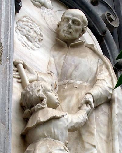 Colegiata San Justo y Pastor, detalle fachada
