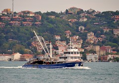 """Isiklar 4"" returns to Istanbul after fishing on the Black Sea, Bosphorus, Turkey, 20 September 2008 (Ivan S. Abrams) Tags: coastguard docks turkey boats nikon mediterranean ataturk ships istanbul getty lighters nikkor shipping tugs straits ports nikondigital blacksea gallipoli ferries harbors watercraft bosphorus tugboats gettyimages vessels freighters tankers harbours cruiseships barges smrgsbord warships destroyers ferryboats navyships speedboats frigates internationaltrade classicboats seaofmarmara navies containerships portcities navalvessels bulkcarriers nikonprofessional chokepoints onlythebestare boatnerd ivansabrams trainplanepro nikond300 shippinglanes internationalshipping sealanes ivanabrams worldwideshipspotters servicecraft gettyimagesandtheflickrcollection feriobots coastalfreighters marinecommerce internationalcommerce maritimecommerce seaportsseaportmaritime crossroadsasiaeuropebosforbogazasia minorboxesintermodal tugobats copyrightivansabramsallrightsreservedunauthorizeduseofthisimageisprohibited tucson3985gmailcom copyrightivansafyanabrams2009allrightsreservedunauthorizeduseprohibitedbylawpropertyofivansafyanabrams unauthorizeduseconstitutestheft thisphotographwasmadebyivansafyanabramswhoretainsallrightstheretoc2009ivansafyanabrams abramsandmcdanielinternationallawandeconomicdiplomacy"