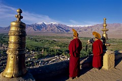 Call to Prayer (gurbir singh brar) Tags: india mountain robe buddhism monastery monks thikse thikseymonastery thiksey thiksemonastery ceremonialrobes flickrelite indianhimalayas