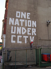 One Nation Under CCTV, Newman Street 22nd April 2008, by a flickr user Spy Blog