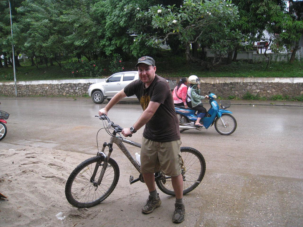 Soaking wet and saddle sore back in Luang Prabang