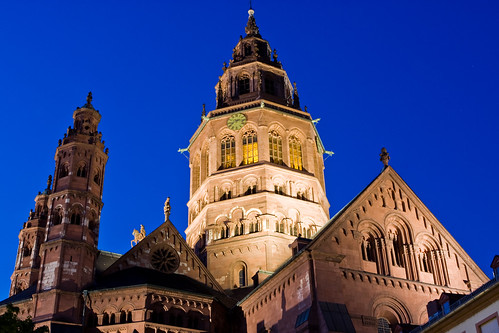 Mainzer Dom (Mainz Cathedral), Germany, Photographed at Night
