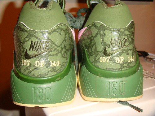 857cbc5b8026 NIKE AIR MAX 180 COWBOY SOLE COLLECTOR MIAMI (green   pink)