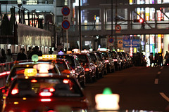 The line of the TAXI (cocoip) Tags: sign japan night canon eos tokyo shinjuku taxi     iso1600  50d eos50d ef135mm canoneos50d ef135mmf2lusm