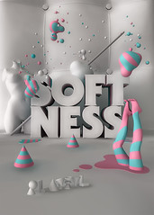 Softness (Playful / Pablo Alfieri) Tags: illustration design 3d softness playful pabloalfieri postersoftness