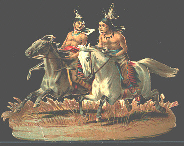 Indians Riding Horses by Joan Thewlis.