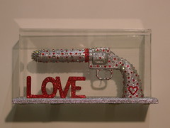 MAKE LOVE NOT WAR (artforme) Tags: art love war guns dildo swarovskicrystals
