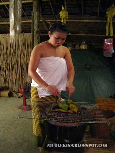 thai girl cooking