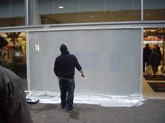 Association Urban Life, Graffiti, Vitrine de noël