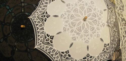 Burano lace umbrellas