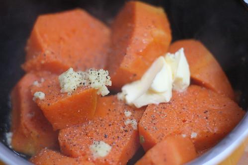 Potiron & gingembre frais râpé