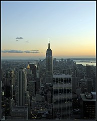 New York from the Top of the Rock (Tony Fischer Photography) Tags: nyc newyorkcity sunset sky ny newyork building landscape nbc twilight view state rockefellercenter aerial empire empirestatebuilding empirestate 30rock skyscspe