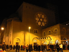 Triester Synagoge 2a/2 (AnnAbulf) Tags: synagoge fvg trieste judaica hanukkah chanukkah triest chanukka hanukka hanukkiah leuchter candelabro sinagoga friuliveneziagiulia  hanukkia 5769 chanukkiah friauljulischvenetien chanukkahleuchter