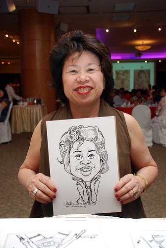 Caricature live sketching for Christ Methodist Church Christmas Celebration - 5