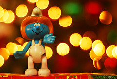 : happy smurfin' good time! (audiOscience!) Tags: christmas blue toys lights colorful asia bokeh philippines plastic elf gifts figure manila southeast nikkor50mmf18 smurfs luzon malabon flickrexplore nikond80 tugatog audioscience sangoyo christianlucassangoyo toyza