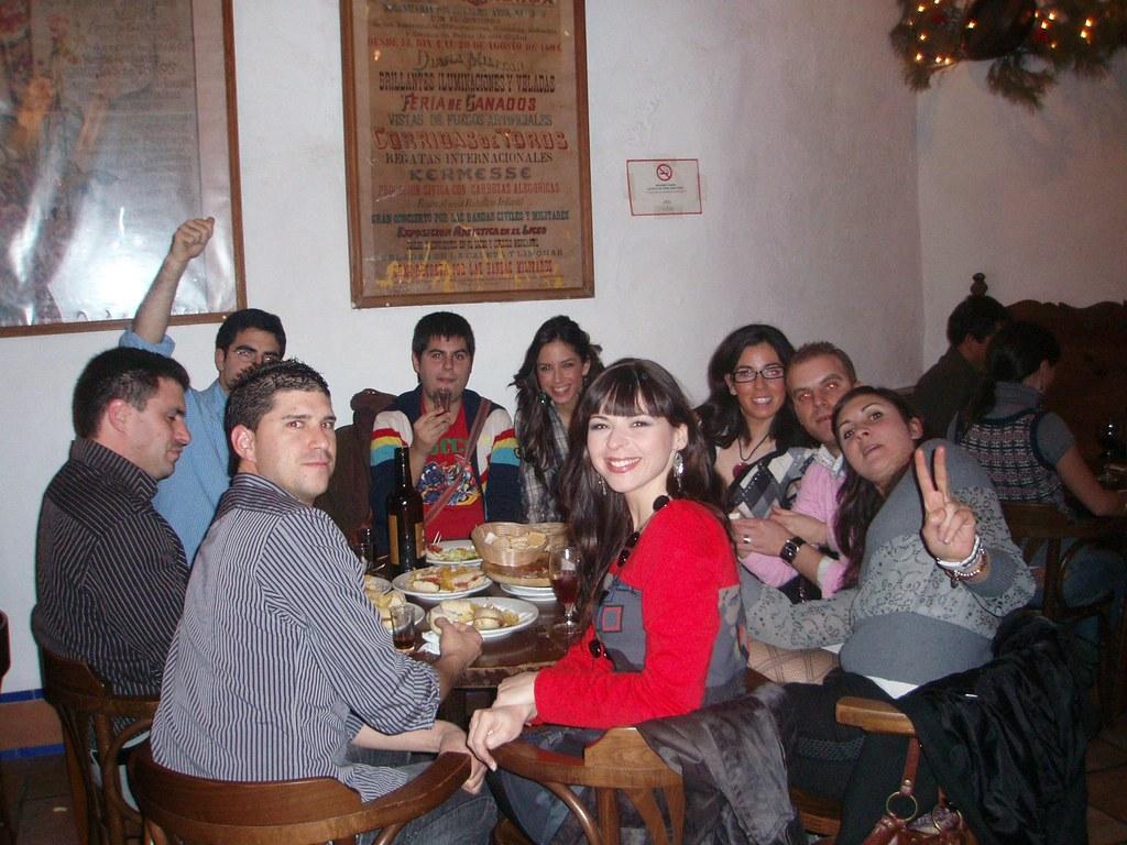 Cenando en El Pimpi