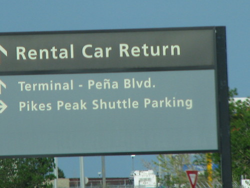 Rental car return