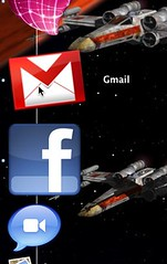 Prism Gmail and Fluid Facebook icons