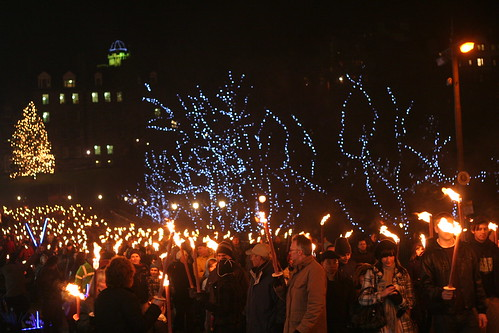 Torchlight Procession on the Mound, Edinburgh
