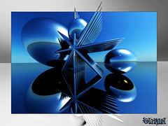 ~ Blue Memories ~ (ViaMoi) Tags: canada art digital design 3d render ottawa newmedia canadian chrome adobe imagist viamoi photoshopcs4