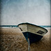 blue boat by Victor Bezrukov