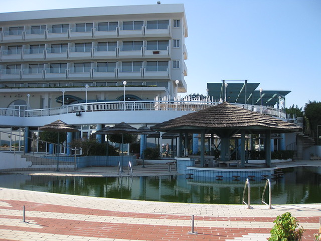 This is the Sunrise Beach Hotel at Protaras, Cyprus.