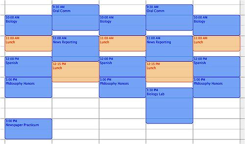 HSU Schedule 2009