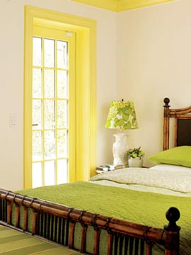 yellow window trim