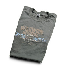 Wildwood School apparel by Hearken Creative Services, slate t-shirt 2