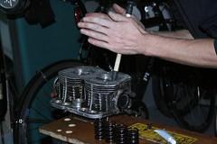 Fiat 500 Engine (Racing snake1) Tags: head paste engine springs damage restoration valves gearbox fiat500 grinding