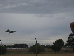 Fighter plane landing