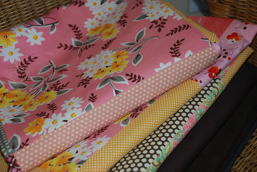 3 finished quilt tops by you.