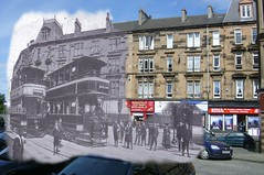 then in now tram terminus (Dave S Campbell) Tags: old bus florida glasgow ghost mount southside then now trolly trams cathcart blend langside