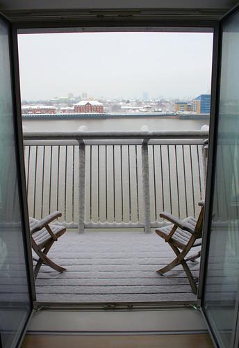 Bonus view - the balcony.