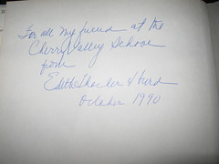Inscription in my copy of Mary's Scary House