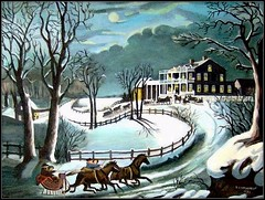Winter Evening - Acrylic Painting by STEVEN CHATEAUNEUF Painted In 1983 - Copy Of Currier & Ives' Painting - Photo Of This Painting Was Taken Also by STEVEN CHATEAUNEUF On January 13, 2009 (snc145) Tags: christmas trees winter sky horses snow art night evening landscapes scenery acrylic paintings fences moonlight 1983 coldweather winternight copies winterscenes awesomeshot winterevening currierives flickrsbest artgalleryandmuseums thedailypost platinumpeaceaward lovetheworldofnature flickrunitedaward stevenchateauneuf