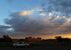 Roadside Attractions (zoniedude1) Tags: sunset summer arizona sky southwest color nature beauty clouds truck outdoors evening roadtrip roadsideattractions pullover i40 navajonation nissantitan apachecounty therez canonpowershota720is gottastop zoniedude1 defianceplateau