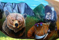 "Part of the ""Where the Painted Buffalo Roam"" exhibit, West Yellowstone, Montana (IMG_1577a) (Alaskan Dude) Tags: travel art buffalo montana wildlife westyellowstone paintedbuffalo wherethepaintedbuffaloroam"