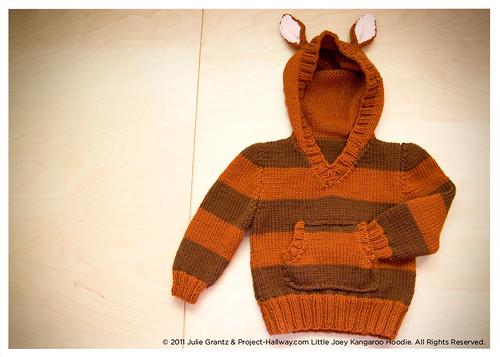 Kangaroo Hoodie Knitting Pattern : Little Joey Kangaroo Hoodie Feather Press Knits