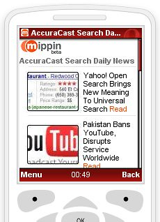 Rich Media Mobile RSS Feed From Mippin