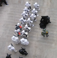 Vader and Fett as 501st Legion troops are inspected. (Darryl W. Moran Photography) Tags: philadelphia starwars stormtroopers 501st philly vader franklininstitute fett 501stlegion starwarscostumes tiepilots snowtroopers sciencemeetsimagination imperialforces carida 501stlegionstormtroopers darthvaderandbobafett starwarsreplicaprops bobafettmandlorian