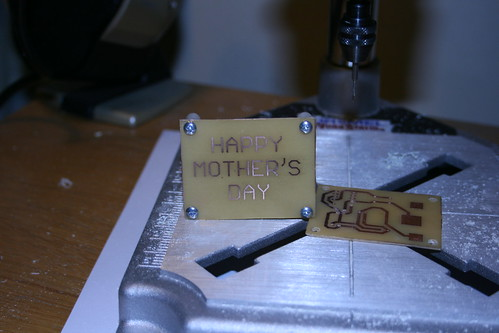 Making PCBs at home, Attempt 2: All holes drilled