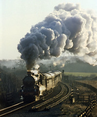 5051 Bearley Junction (geoffspages) Tags: sky landscape coach smoke railway steam locomotive uksteam drysllwnycastle