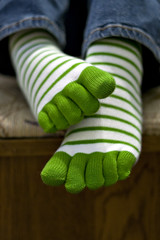 Me 77/366 (Kerrie Lynn Photography (Sugaree_GD)) Tags: white selfportrait green feet socks foot toe stripes 365 kerrie striped stpatricksday explored sugareegd 77366