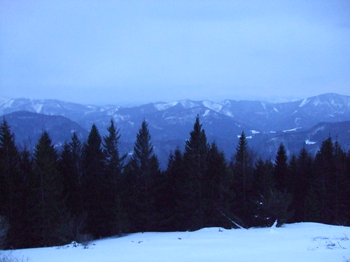 Alps at dusk